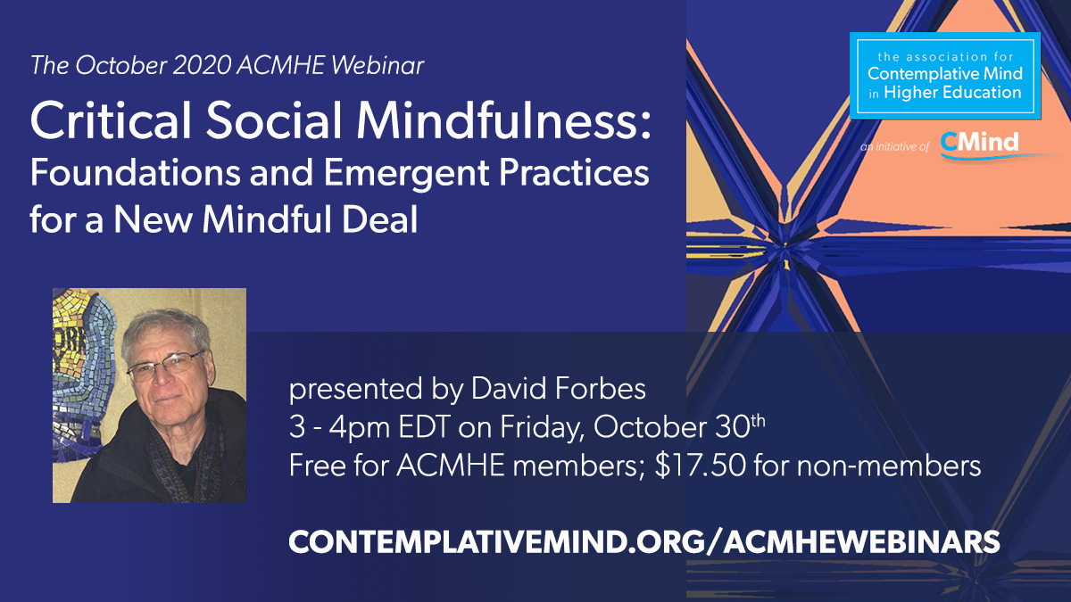 Oct 30 webinar with David Forbes